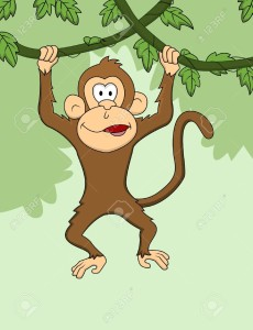 13778825-Monkey-cartoon-hanging--Stock-Vector-jungle